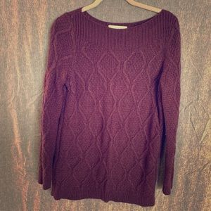 Like New Plum LOFT Sweater SZ L